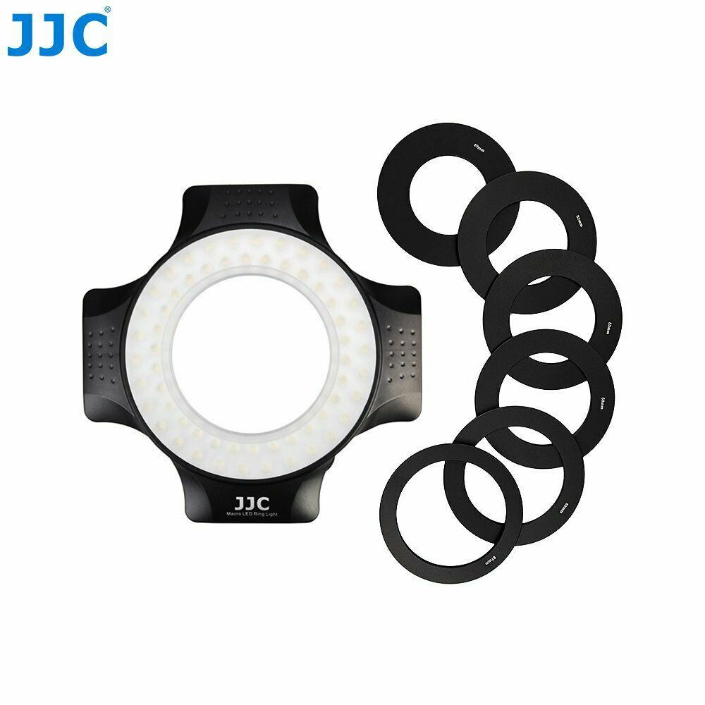 New JJC LED-60 60pcs Macro Ring LED Light for universal DSLR Camera with Adapter