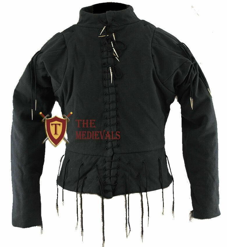 Medieval knight armor Aketon Cotton Jacket sca PLANE Gambeson costumes Dress