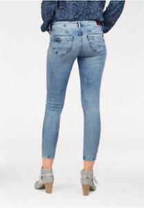 Jeans Donna Pepe Skinny Nuovo Slim London Ripple Pantaloni L32 W28 dZZxFPqz
