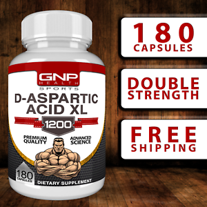 D-ASPARTIC-ACID-XL-1200mg-180-CAPS-Testosterone-Booster-PCT-Muscle-DAA