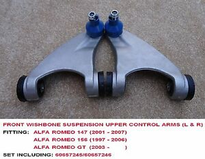 FRONT-WISHBONE-SUSPENSION-UPPER-CONTROL-ARMS-L-amp-R-FOR-ALFA-ROMEO-147-156-GT