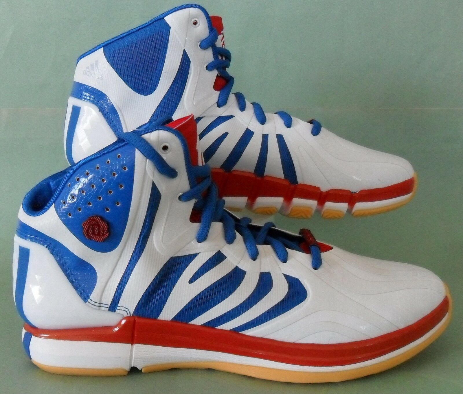 RARE~Adidas D ROSE 4.5 DRAFT LOTTERY Derrick crazyquick Basketball Shoe~Mens 9.5