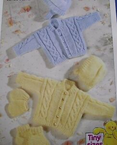 Knitting Patterns For Mittens For Premature Babies : KNITTING PATTERN - TINY SIZES/PREMATURE BABY JACKET, HAT ...