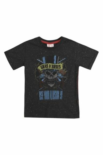 Use Your Illusion 91 Black Speckled T-Shirt Amplified Kids GUNS N ROSES