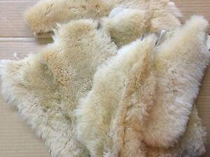 2 Cream Merino Sheepskin Pads Shoe inserts Reline Uggs Slippers Boots Insoles