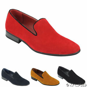 New Mens Suede Loafers Leather Smart
