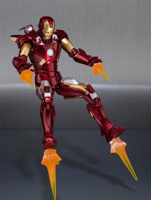 S.H.Figuarts Marvel Avengers Iron Man Mark 7 Actionfigur Bandai Neu von Japan