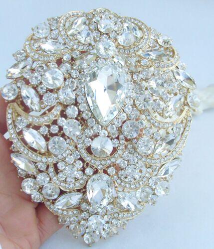 """Luxe 4.92/"""" clair Autrichien Cristal Mariage Bouquet De Larme brooch pin 04045C11"""