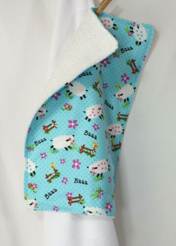 You Choose backing Animal Collection Terry or Flannel Backed Burp Cloth