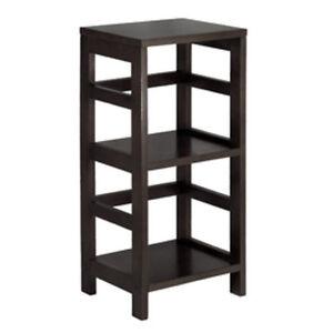 Image Is Loading Winsome Wood Shelf Espresso 2 Bookshelf Narrow Bookcases