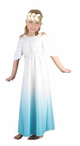 Girls Roman Goddess Toga Ancient Rome Greek Aphrodite Fancy Dress Costume