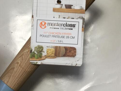 "New MASTERCLASS Premium Cookware Blue 11/"" 4Qt Chicken Fryer Non Stick Ceramic"