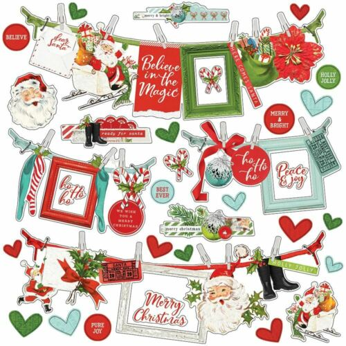 """Simple Vintage North Pole Cardstock Stickers 12/""""X12/""""-Banners VNP13602"""