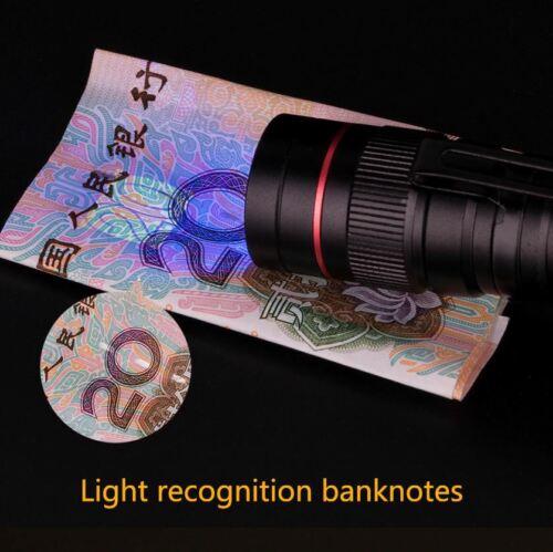 UV Money Checker Antorcha LED Detector de billetes falsos Luz violeta Efectivo