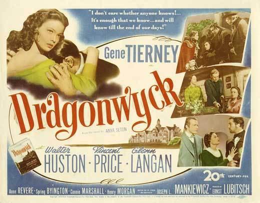 Dragonwyck Gene Tierny vintage Movie poster print