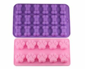 Details about Paw & Bone Set Silicone Baking Mold Food Grade Cookies  Biscuits Candy Quick Ship