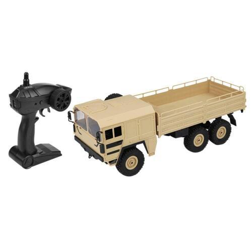 Q64 1:16 2.4G 6WD RC Auto Armee Gelb Truck Rock Traktor Nutzfahrzeug