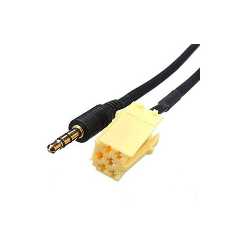FIAT 500 2008 ONWARD AUX IN AUXILIARY 3.5 JACK CABLE IPOD IPHONE MP3 HTC ADAPTOR