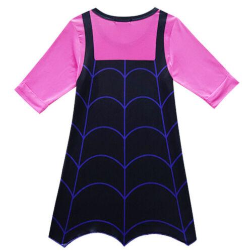Girls Vampirina Cartoon Dress Holiday Party Cosplay Costume  B17 US STOCK