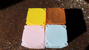 8 Tubes Pink Blue Orange /& Yellow  Large Silver Dollar Coin Safe Plastic Square