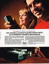 PUBLICITE ADVERTISING 045  1969  LEITZ   projecteur PRADOVIT-COLOR