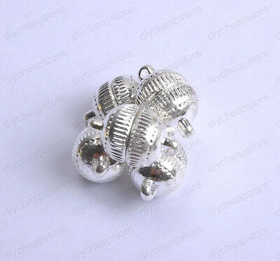 free shipping 10Sets Silver/Gold Plated Stripe Jewelry Powerful Magnetic Clasps