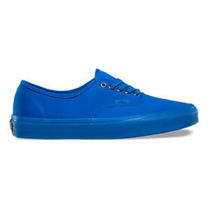 a8f601a27797fc Image is loading Vans-Authentic-Primary-Mono-Blue-Mens-Womens-Canvas-