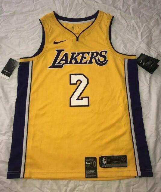 Lonzo Ball Los Angeles Lakers Nike NBA Icon Gold Swingman Jersey ...