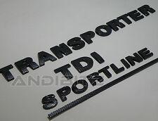 CARBON FIBRE VW TRANSPORTER T5 TDI SPORTLINE CARAVELLE REAR BACK BADGE CAMPER