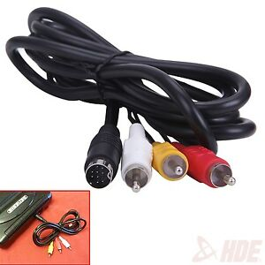 Sega-Genesis-AV-Cable-RCA-Composite-Cable-6-ft-Cord-for-Revision-2-amp-3-Consoles