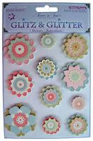 Karte machen Sticker Bogen, Glitz 11 handgefertigt 3D Blumen Scrapbooking PGB