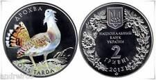 Ukraine 2013 Coin hryvnia 2 UAN Bustard OTIS TARDA
