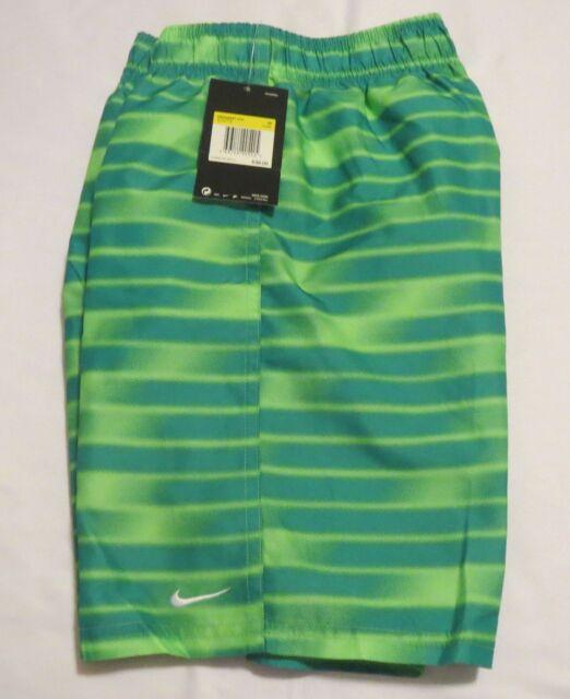 6ae9253e76 Nike Boys 8 Green Volley Shorts Swim Trunks Ness8697 Medium for sale ...