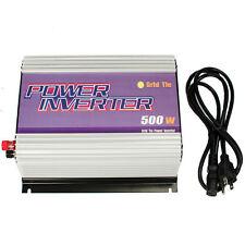 New 500W 500 Watt Grid Tie inverter Accept 22V-60V DC To 120VAC Pure Sine Wave