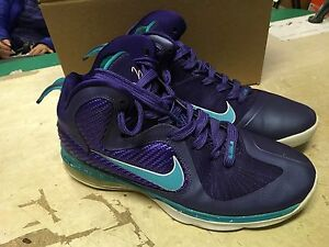 f83de470cf2 USED MENS NIKE AIR Lebron 9 IX SUMMIT LAKE HORNETS 469764 500 SZ 9.5 ...