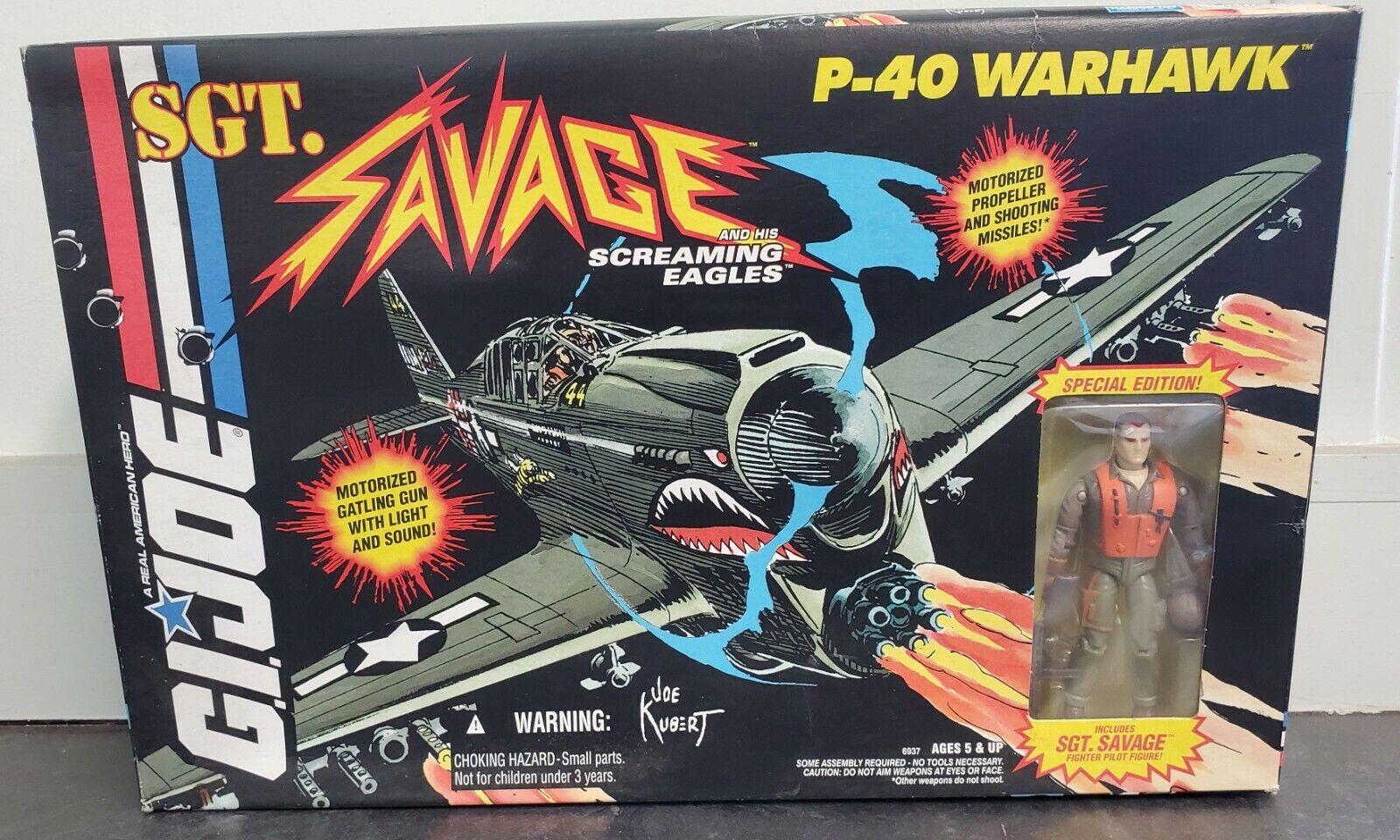 GI Joe SGT SAVAGE Vehicle P-40 WARHAWK Missile Launcher 1995 Original Part