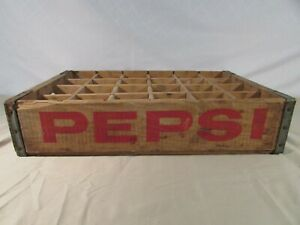 Vintage Pepsi 24 Bottle Wooden Crate