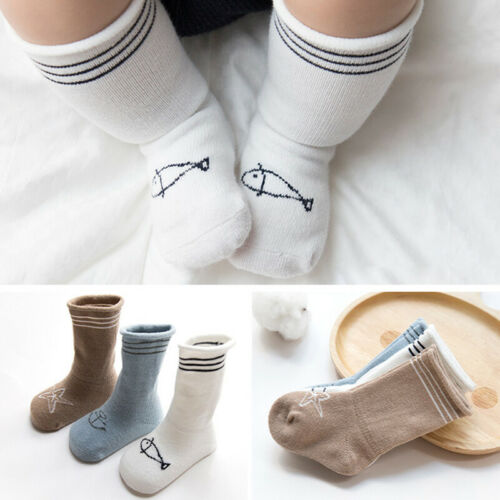 3Paar Baby Kinder Mädchen Baumwolle Strumpfhosen Socken  Strümpfe Strumpfband DE