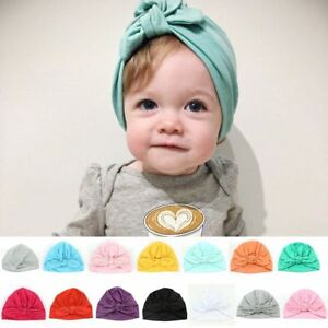0f7819daa Details about Baby Girl Hats Headband Sretch Head Wrap Soft Turban Knot  Caps for Toddler Kids