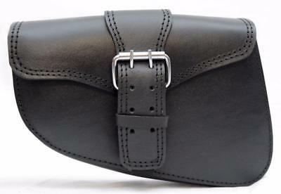 Sac a outil latérale Cuir MARRON { Harley Sportster iron forty nighster XL 48 }