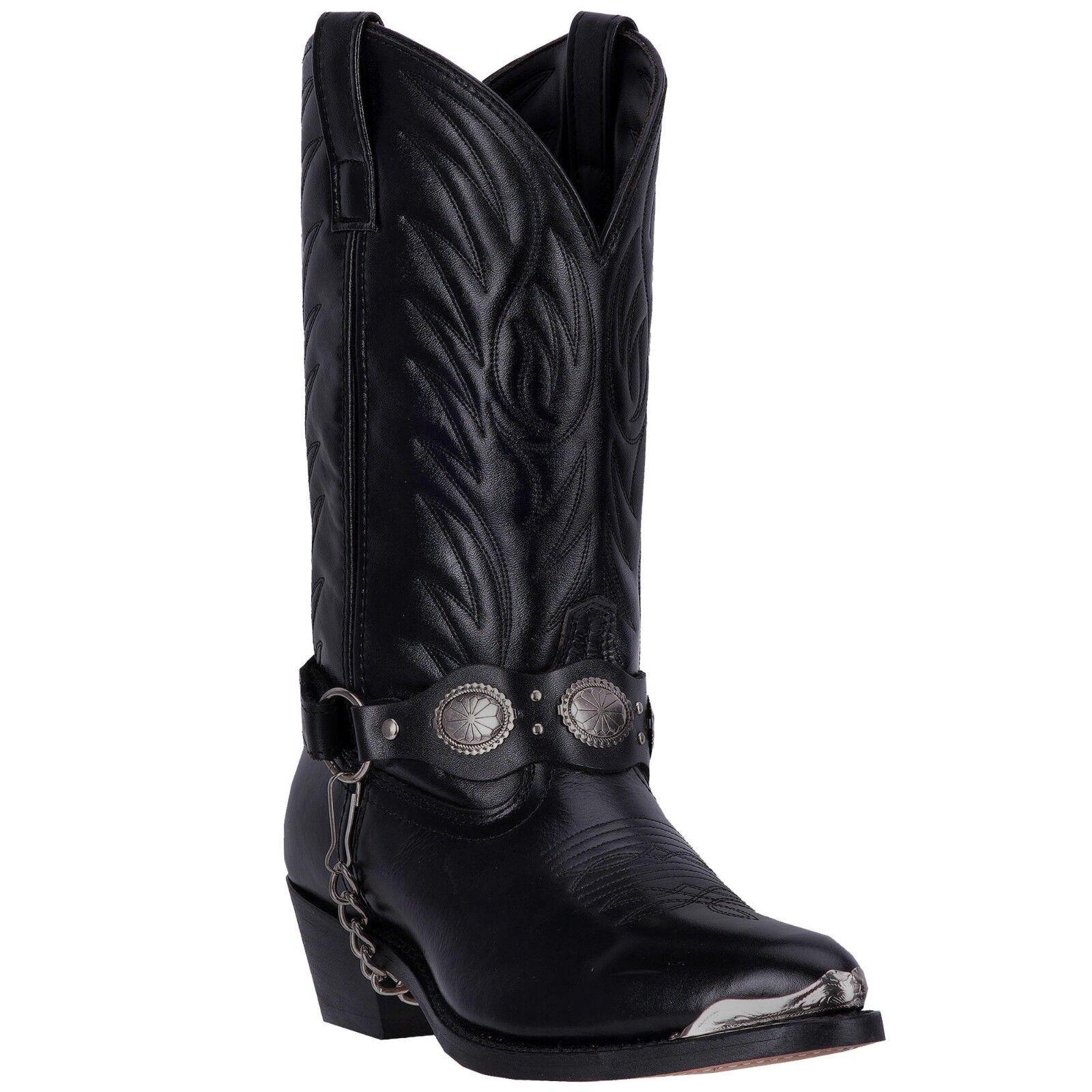 Laredo sizehassee 01-6770-BK Men's 12  Black Leather Cowboy Boots