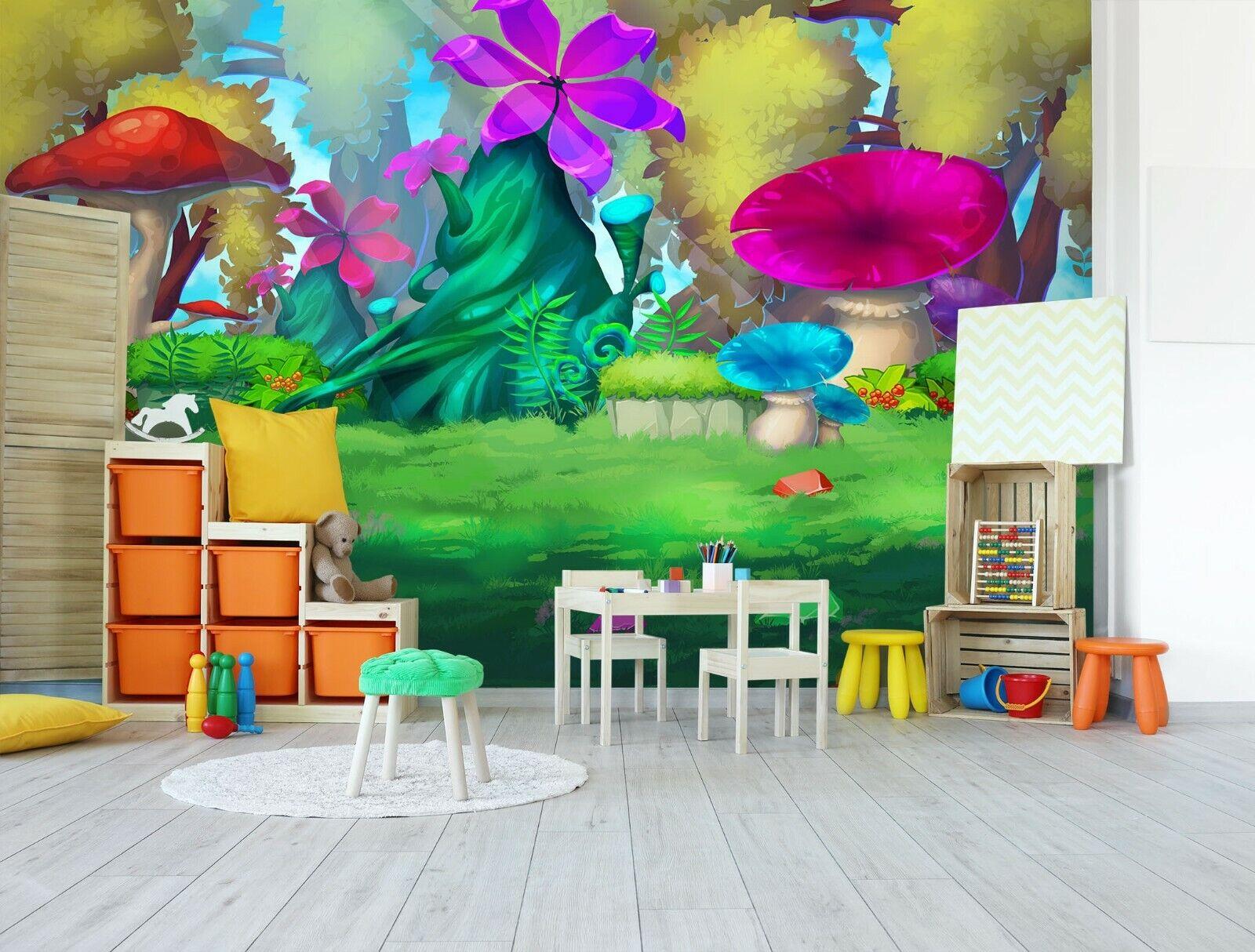 3D Farbige Pilze Kind M926 Geschäft Tapete Wandgemälde Selbstklebend Handel Amy