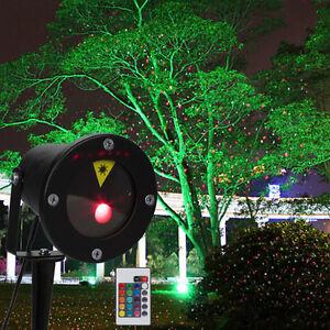 rot gr n laser projektor gartenlicht wasserdicht weihnachten deko beleuchtung ebay. Black Bedroom Furniture Sets. Home Design Ideas