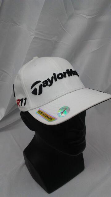 27356378e67 New Taylormade Golf Dustin Johnson Fitted Cap White S M PENTA Burner R11  Logos