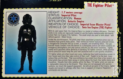 TIE Fighter Pilot non ouvert Star Wars Power of the Force 2 1995 CARTE ROUGE-N Comme neuf-Carte