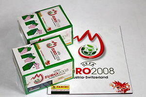 Panini-EM-Euro-2008-2-x-Display-Box-GRUN-GREEN-sealed-OVP-RARE-SHINY-ALBUM