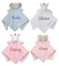 Baby Boy Girl Personalised Name Comforter Blanket Elephant Unicorn Baby Gift