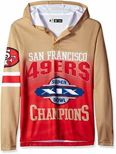 7942cca1 Details about Forever Collectibles NFL Men San Francisco 49ers Super Bowl  Champions Hooded Tee