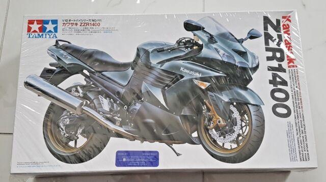 TAMIYA 1/12 KAWASAKI  ZZR1400 SPORT MOTORCYCLE PLASTIC MODEL KIT ITEM 14111 F/S