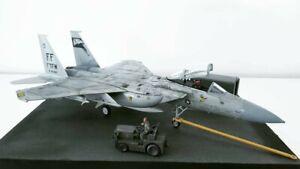 1-72-F15-Eagle-Diorama-Fighter-Jet-gebaut-amp-lackiert